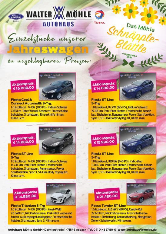 Schnäpple-Blättle_Jahreswagen Autohaus Walter Möhle